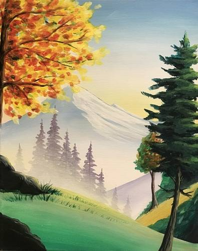 A First Hint of Fall paint nite project by Yaymaker