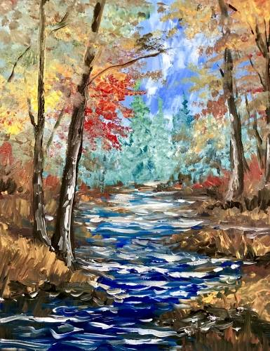 A I Love Autumn II paint nite project by Yaymaker