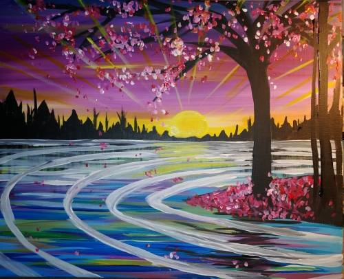 A Sunbeams And Daydreams paint nite project by Yaymaker