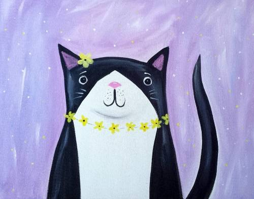 A Hippie Kitty paint nite project by Yaymaker