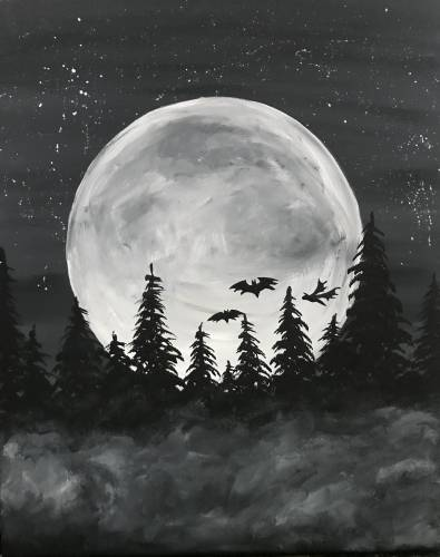 A Spooky Moon II paint nite project by Yaymaker