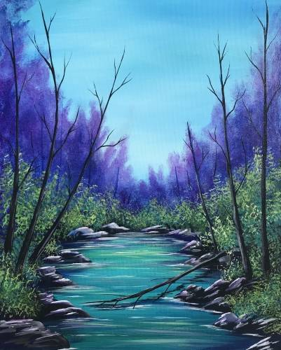 A Silent Stream paint nite project by Yaymaker