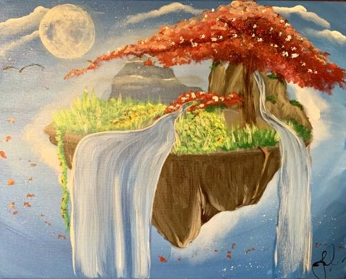 A Sky Night Falls paint nite project by Yaymaker