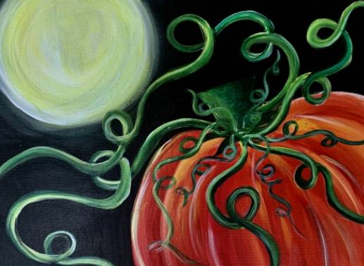 A Good Night Pumpkin paint nite project by Yaymaker