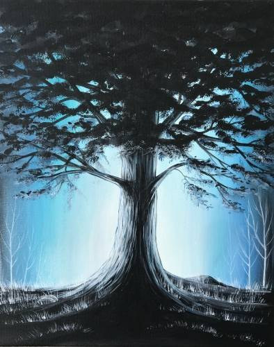 A Luminescent Mighty Oak paint nite project by Yaymaker