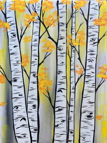 A Golden Aspen Woods paint nite project by Yaymaker
