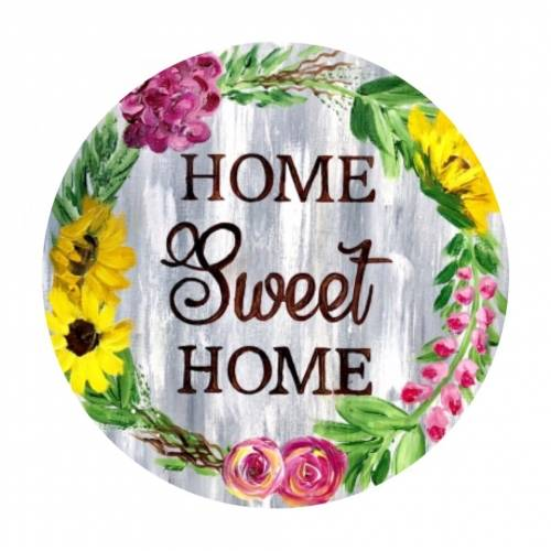 A Home Sweet Home  Round Painting paint nite project by Yaymaker