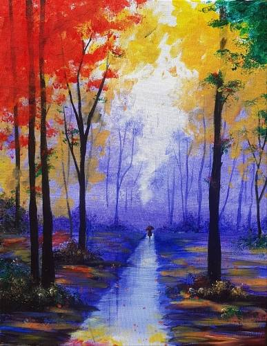 A Strolling Through Autumn II paint nite project by Yaymaker