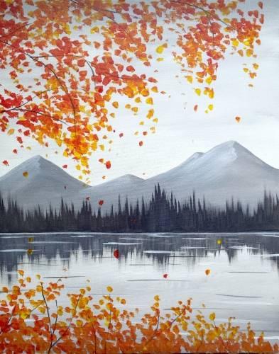 A Autumn Mountains paint nite project by Yaymaker