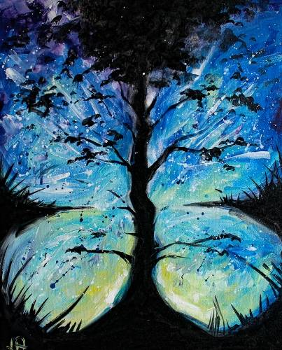 A Butterfly Sky paint nite project by Yaymaker