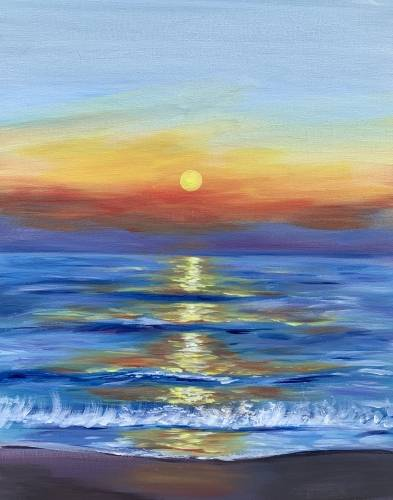 A Sunrise Bliss paint nite project by Yaymaker