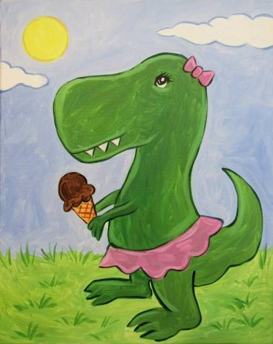 A Dina The Dino paint nite project by Yaymaker