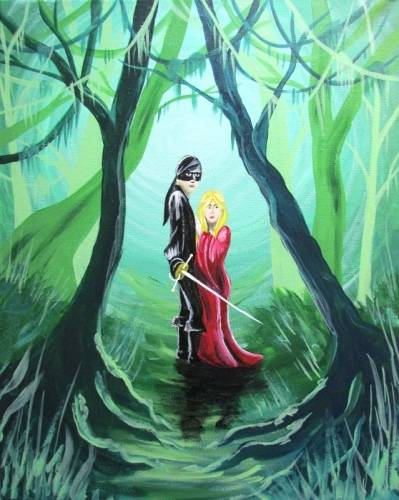 A On The Edge Of The Swamp paint nite project by Yaymaker