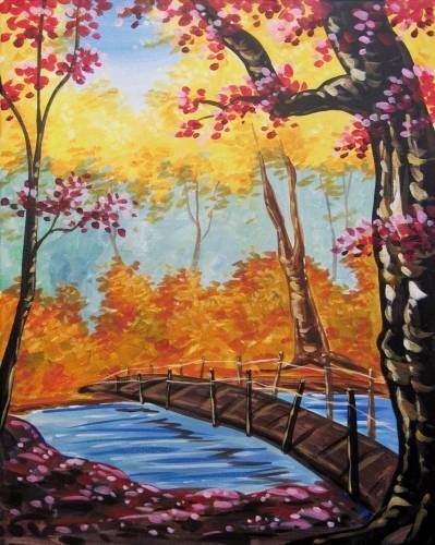 A Secret Fall Bridge paint nite project by Yaymaker