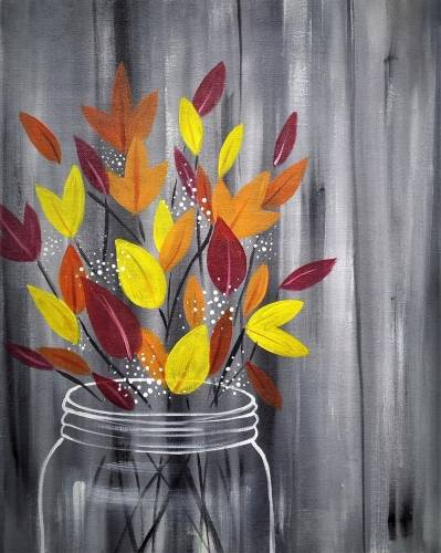 A Autumn Bouquet paint nite project by Yaymaker