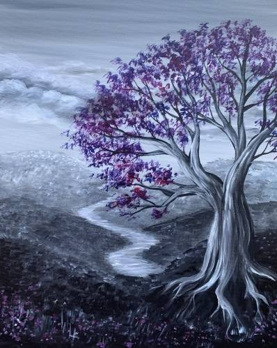 A Amethyst Tree paint nite project by Yaymaker