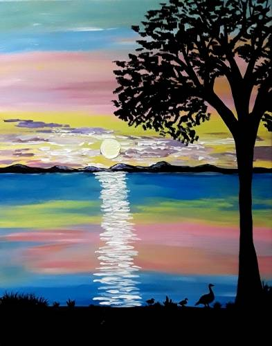 A Just Ducking Around paint nite project by Yaymaker