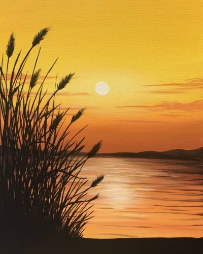 A Golden Sundown paint nite project by Yaymaker