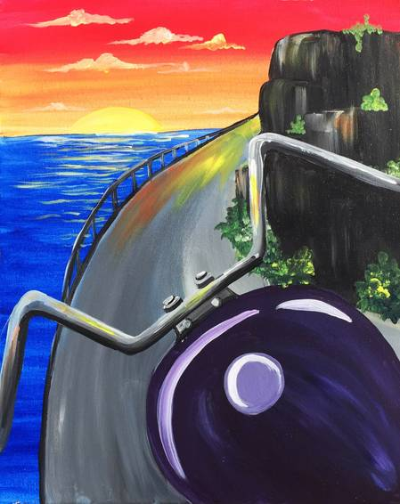 A Ride Home paint nite project by Yaymaker