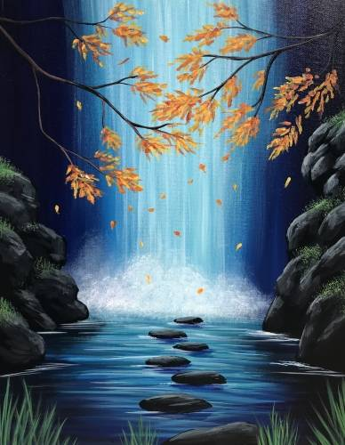 A Autumn Falls III paint nite project by Yaymaker