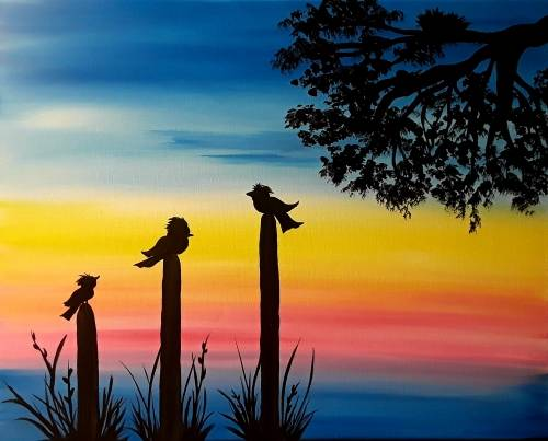 A Hangry Birds paint nite project by Yaymaker
