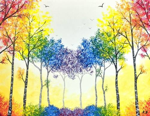A Prismatic Forest paint nite project by Yaymaker