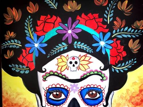 A Colores de Frida II paint nite project by Yaymaker