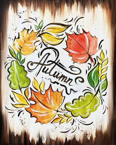 A Welcome Autumn paint nite project by Yaymaker