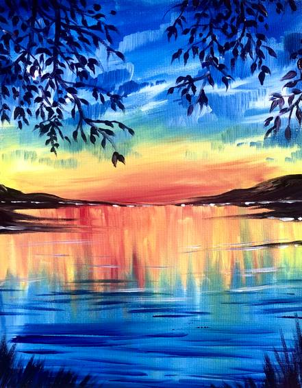 A On Lake Time paint nite project by Yaymaker