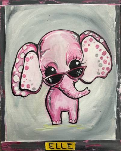 A Elle the Elephant paint nite project by Yaymaker