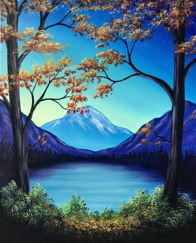 A Autumn Lookout paint nite project by Yaymaker