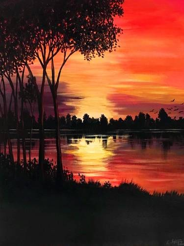 A River Sunset II paint nite project by Yaymaker
