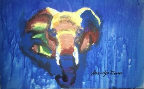 A Spiritual Elephant paint nite project by Yaymaker