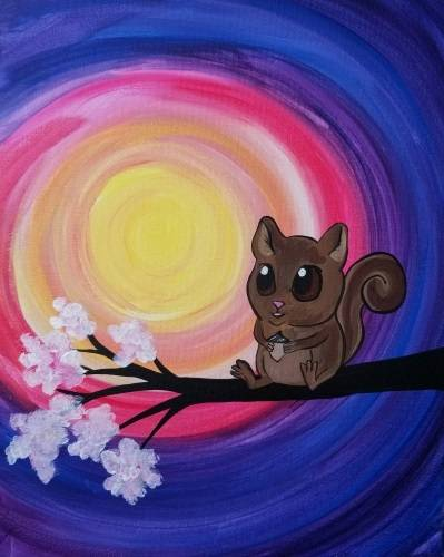A Happy Squirrel paint nite project by Yaymaker