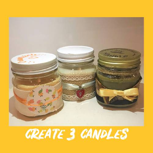 A Candle Scents Trio candle maker project by Yaymaker