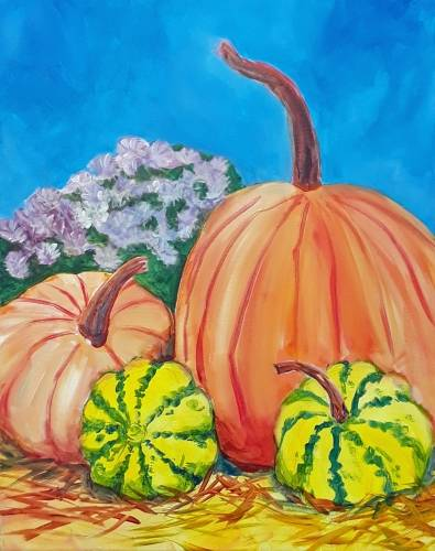 A Autumn Farm Harvest paint nite project by Yaymaker