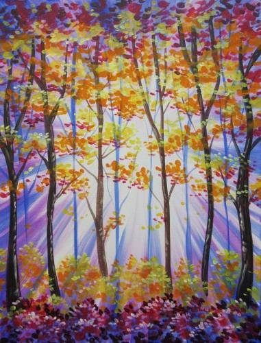 A Fall Forest Radiance paint nite project by Yaymaker