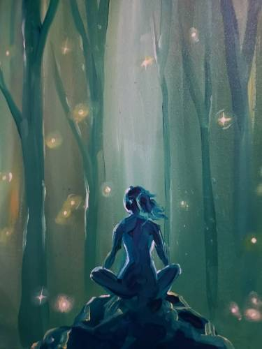 A Forest Of Solitude paint nite project by Yaymaker