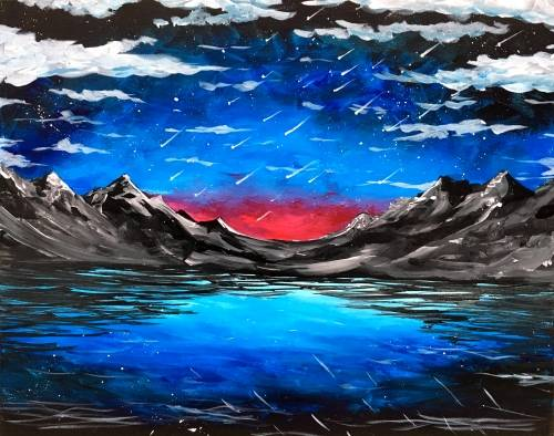 A Meteor Shower II paint nite project by Yaymaker