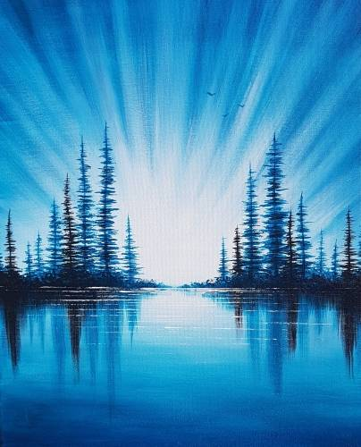 A Sunrise Blues paint nite project by Yaymaker