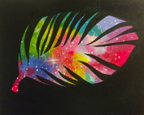 A Galactic Feather paint nite project by Yaymaker