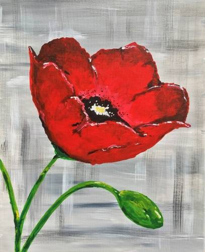 A Just Poppy In paint nite project by Yaymaker