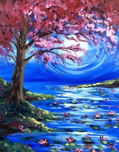 A Under The Japanese Maple paint nite project by Yaymaker