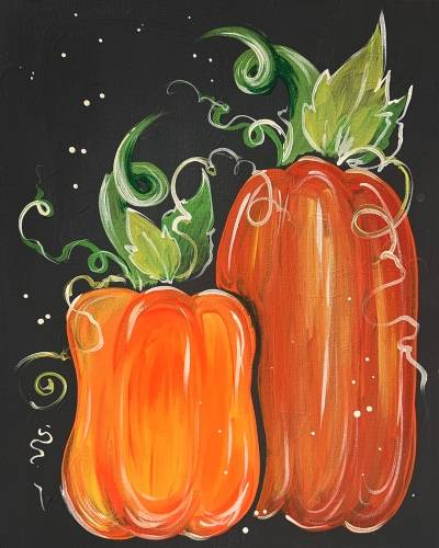 A Pumpkin Season paint nite project by Yaymaker