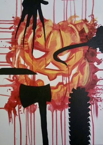 A Fright Night paint nite project by Yaymaker