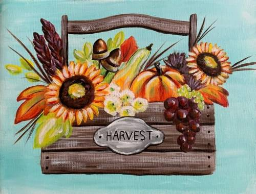 A Autumn Harvest Basket paint nite project by Yaymaker