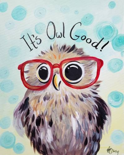 A Its Owl Good paint nite project by Yaymaker