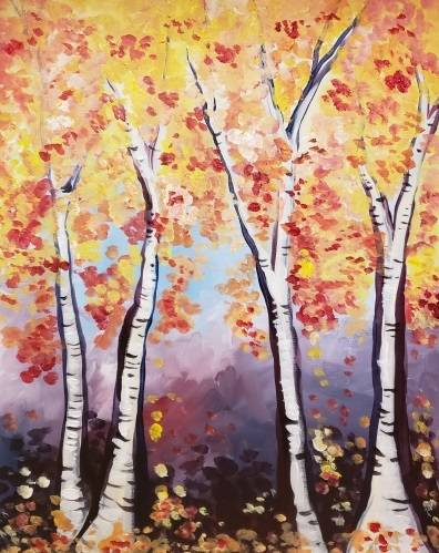 A All About That Birch paint nite project by Yaymaker