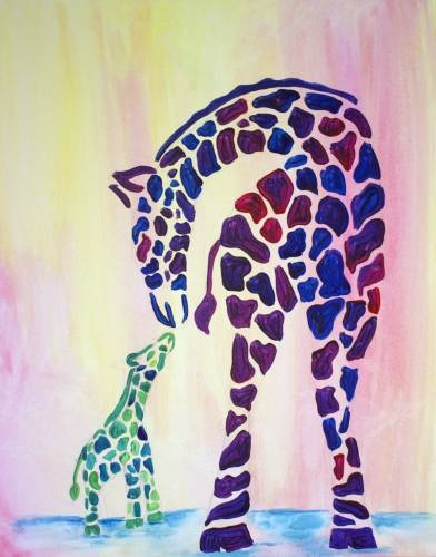 A Big Love Little Giraffe paint nite project by Yaymaker