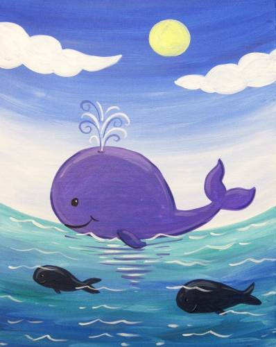 A Whales Day Out paint nite project by Yaymaker